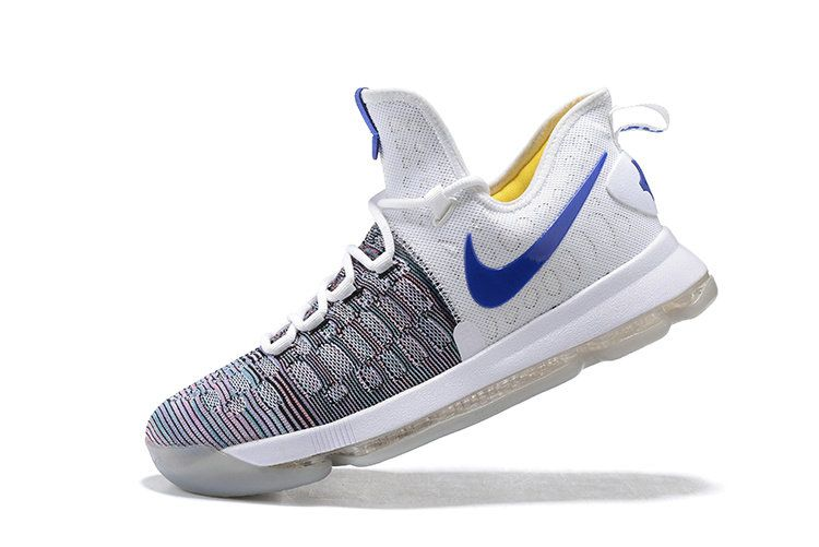 the latest 75abc cf3d8 Sale New KD 9 IX Flyknit Warriors Home MultiColor Multi Color Kevin Durant  Shoes 2017