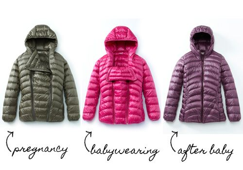 Mamaway 3-in-1 down jacket: for maternity and babywearing