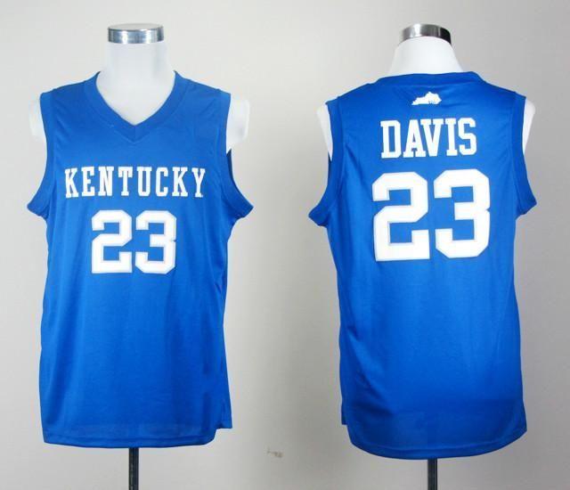 c61986a63 Men 23 Anthony Davis Jersey Blue Kentucky Wildcats College Basketball Jersey