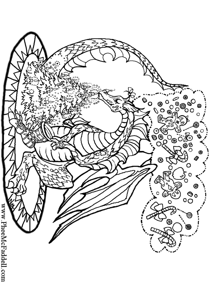 charistmas dragon wwwpheemcfaddellcom coloring sheets adult coloring pages free coloring