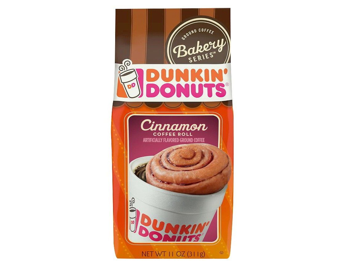 Dunkin donuts cinnamon medium roast ground coffee 11oz