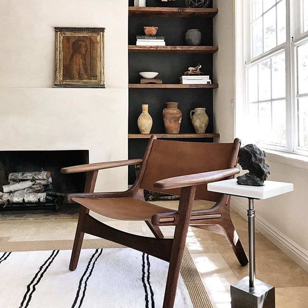 Photo of Room & Board –  Lars Leather Lounge Chair – Moder