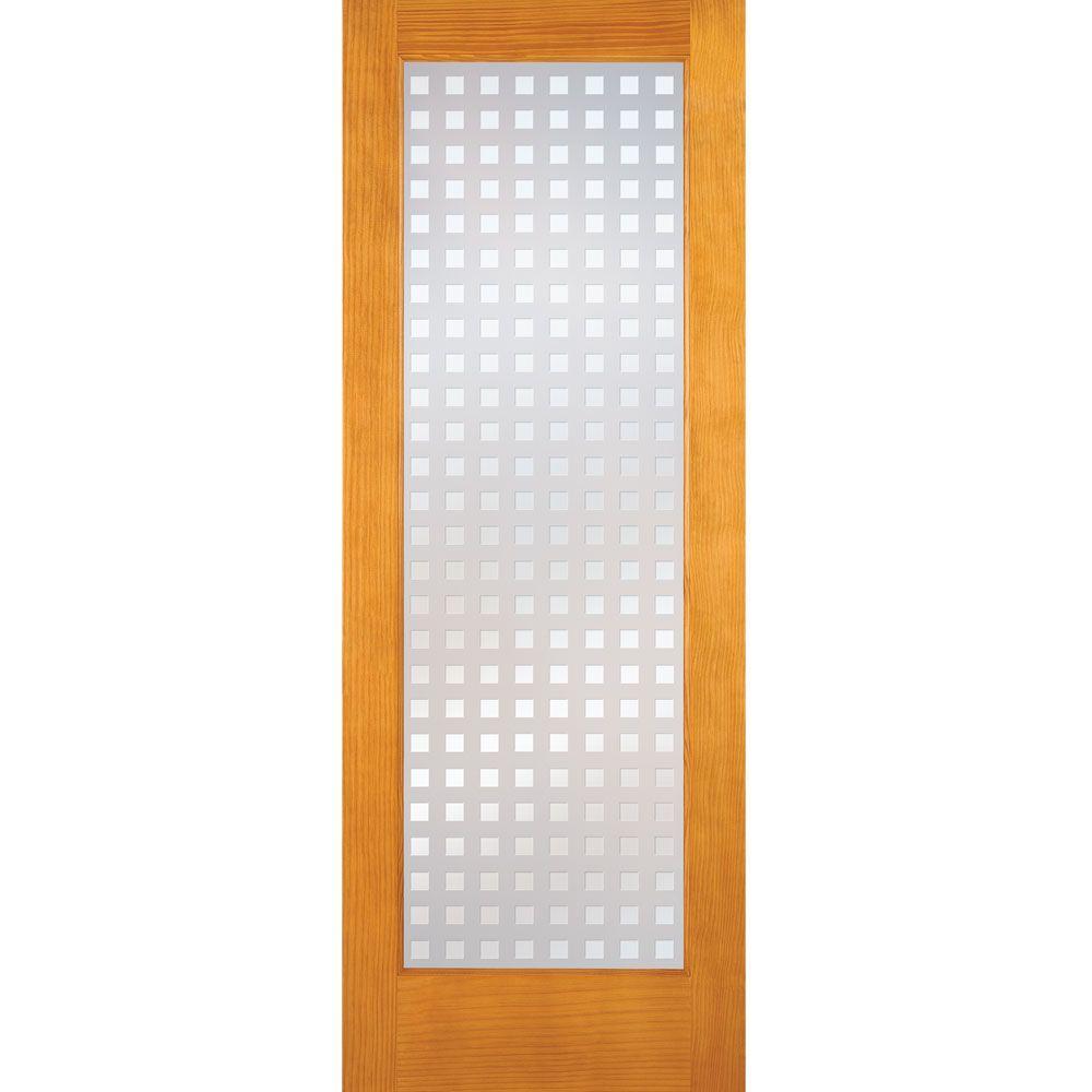 Feather River Doors 30 In X 80 In Multicube Woodgrain 1 Lite Unfinished Pine Interior Door Slab En15012668e610 Pine Interior Doors Doors Interior Slab Door