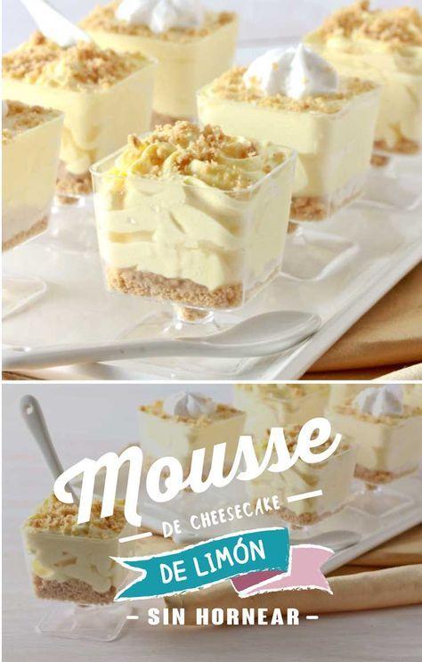 Un postre complaciente! Mousse de cheesecake de limón sin hornear ...