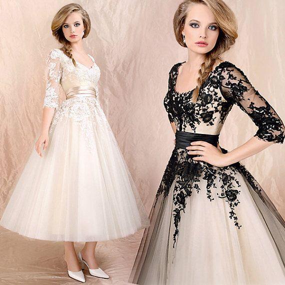 Cream and Black Sheer Prom Dresses