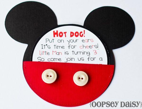 Invitaciónes de primer añito de Mickey Mouse - Imagui | Cumple ...