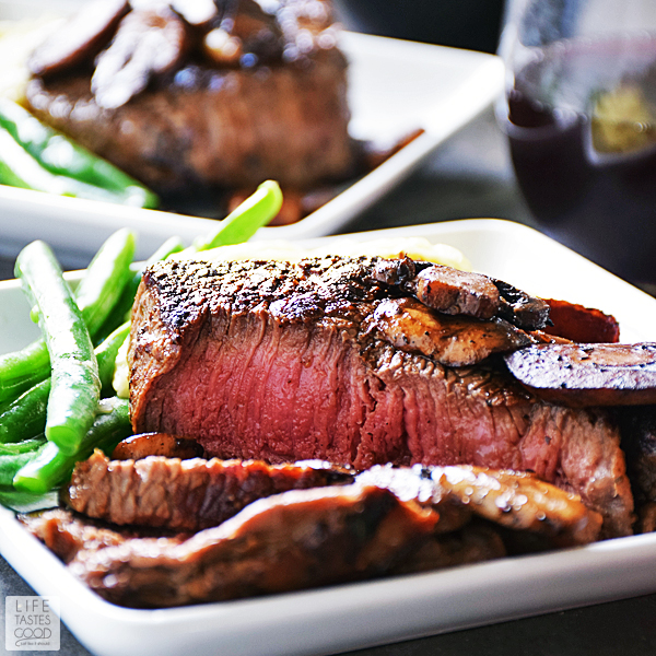 Pan Seared Sirloin Steak Dinner for Two #sirloinsteakrecipeshealthy
