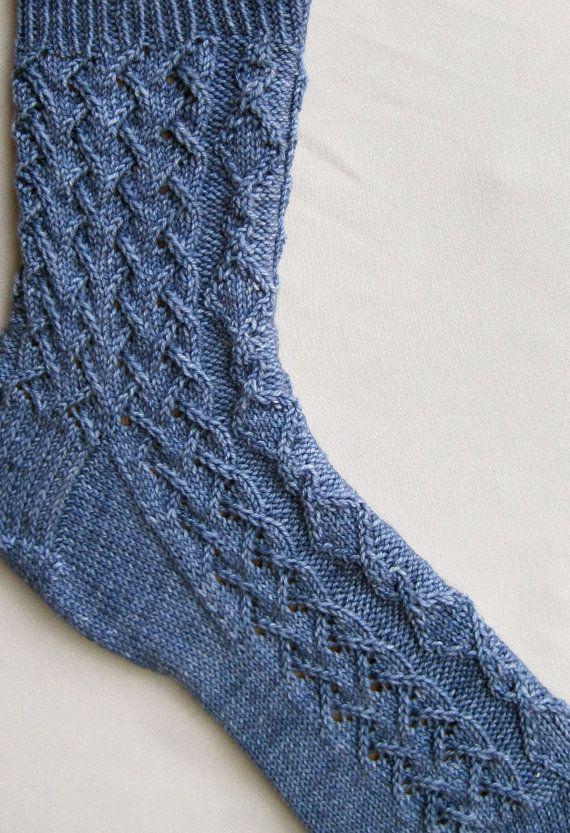 Stricken Socken Muster SpiegelKabel und von WearableArtEmporium ...