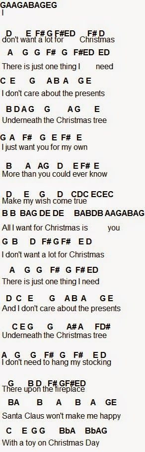 All I Want For Christmas Is You Flute Sheet Music Clarinet