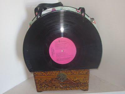 Record Purse Tutorial Crafty Stuff Record Crafts Diy