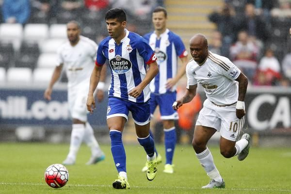 Andre Ayew in action against Deportivo 1st August