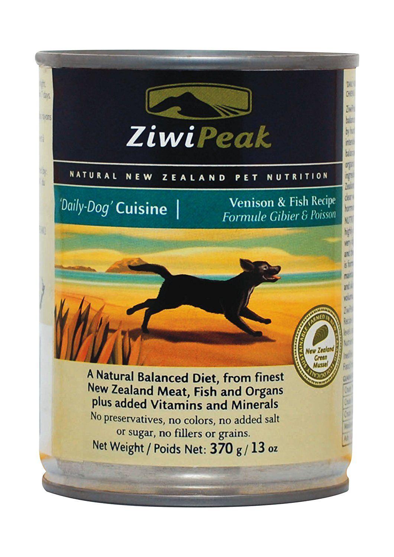Canned venisonfish wet dog food 13oz case of 12