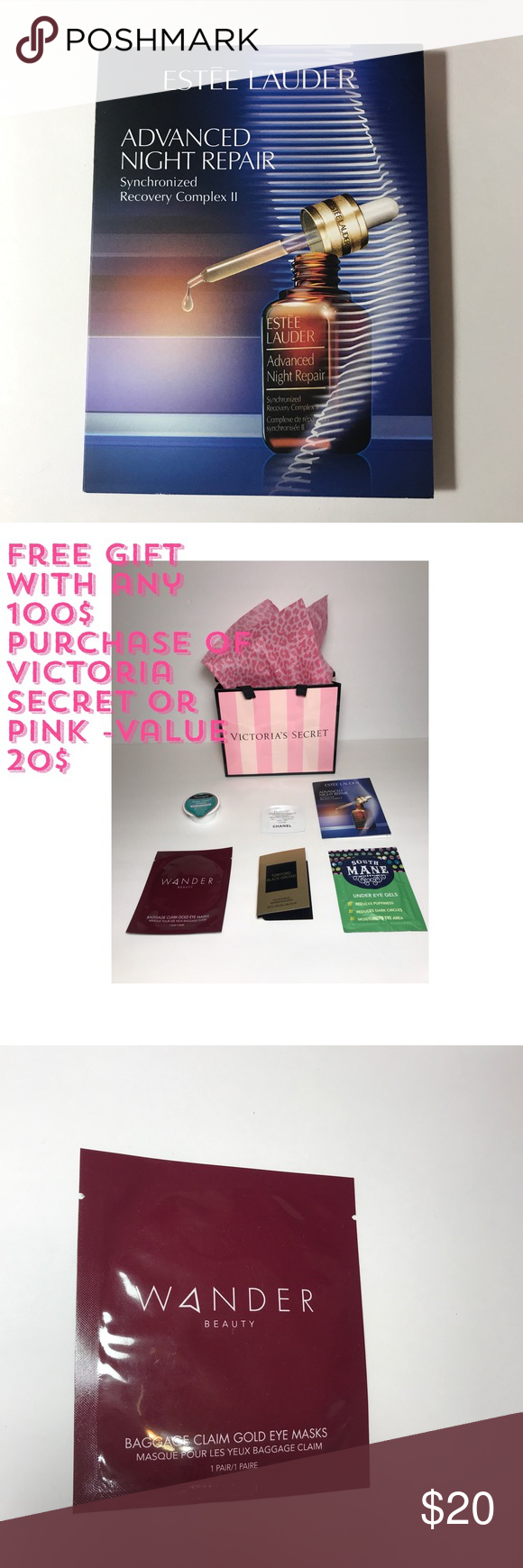 Free 🎁 with any purchase of 60 Value 20 Estée Lauder