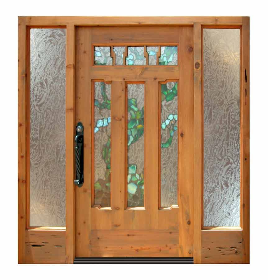 Entry Door - New Craftsman - Stained Lead Glass 2009 - NCD123 ...