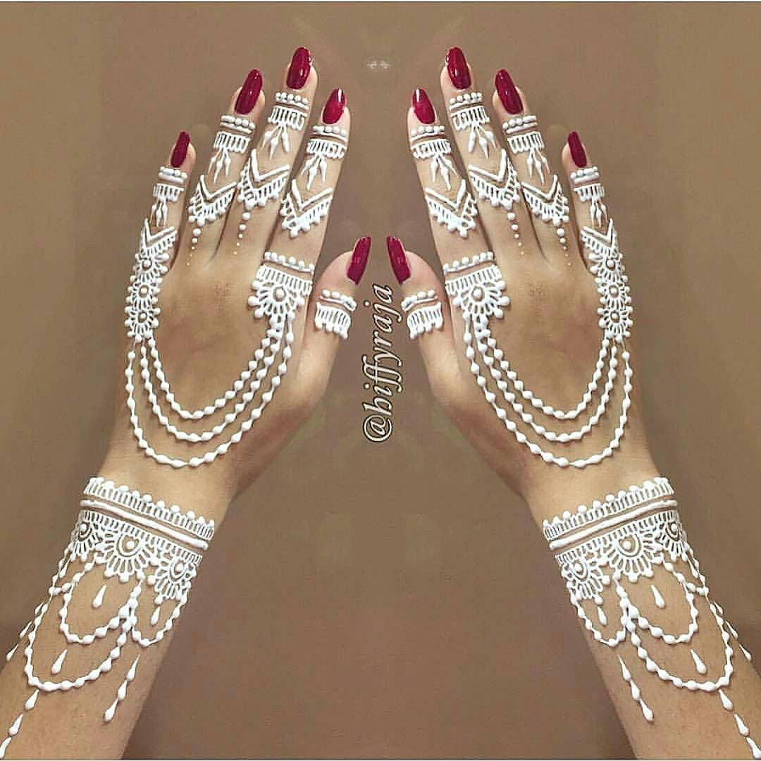 White Wedding Dress With Henna: Fosterginger.Pinterest.ComMore Pins Like This One At