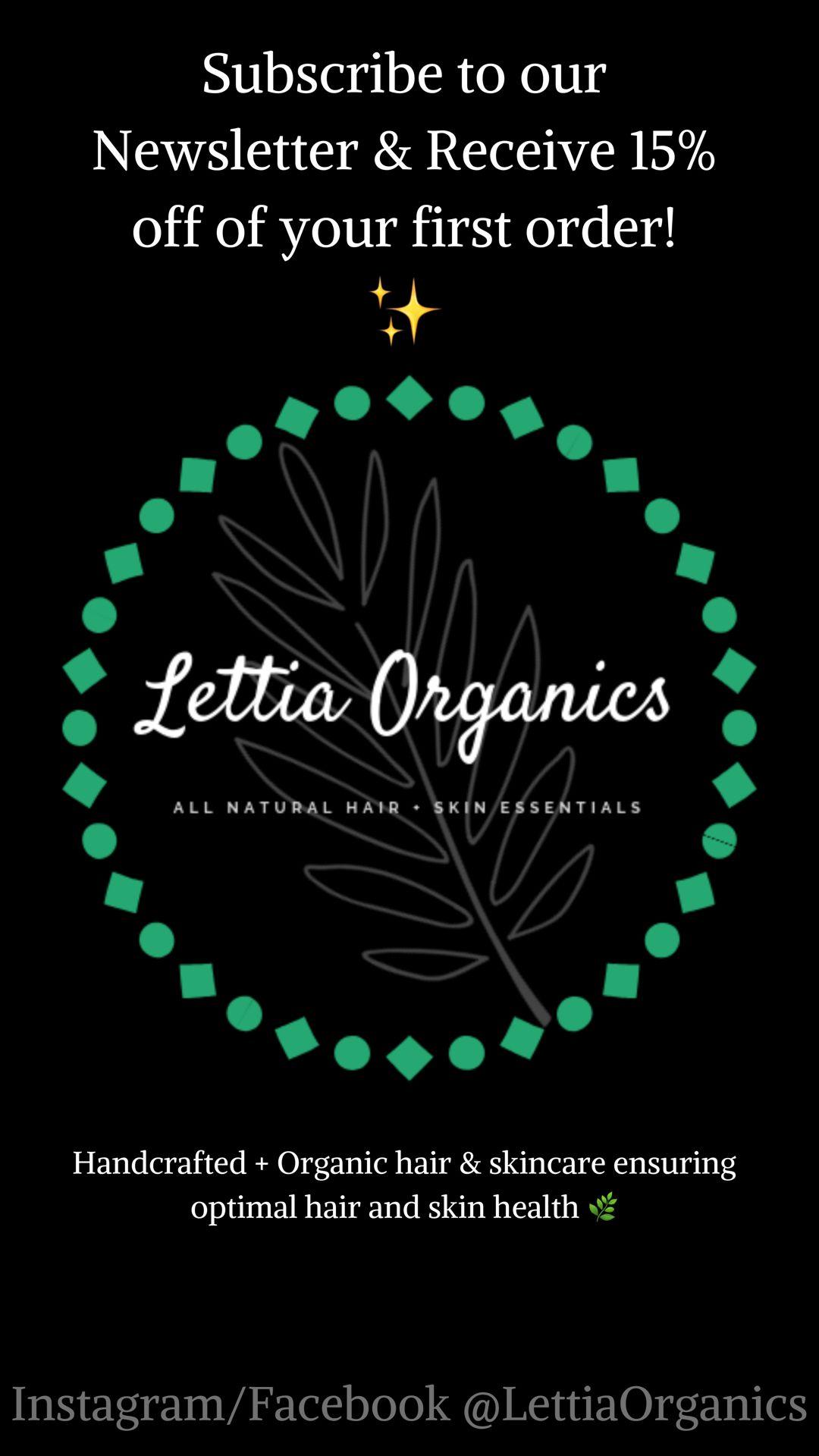 LETTIA ORGANICS • Organic Hair + Skin Care Essentials