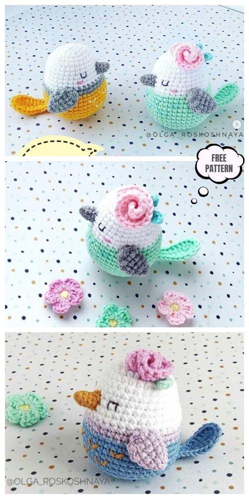 Crochet Spring Bird Amigurumi Free Pattern #amigurumifreepattern
