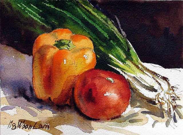 Pin On Art Still Life Watercolours