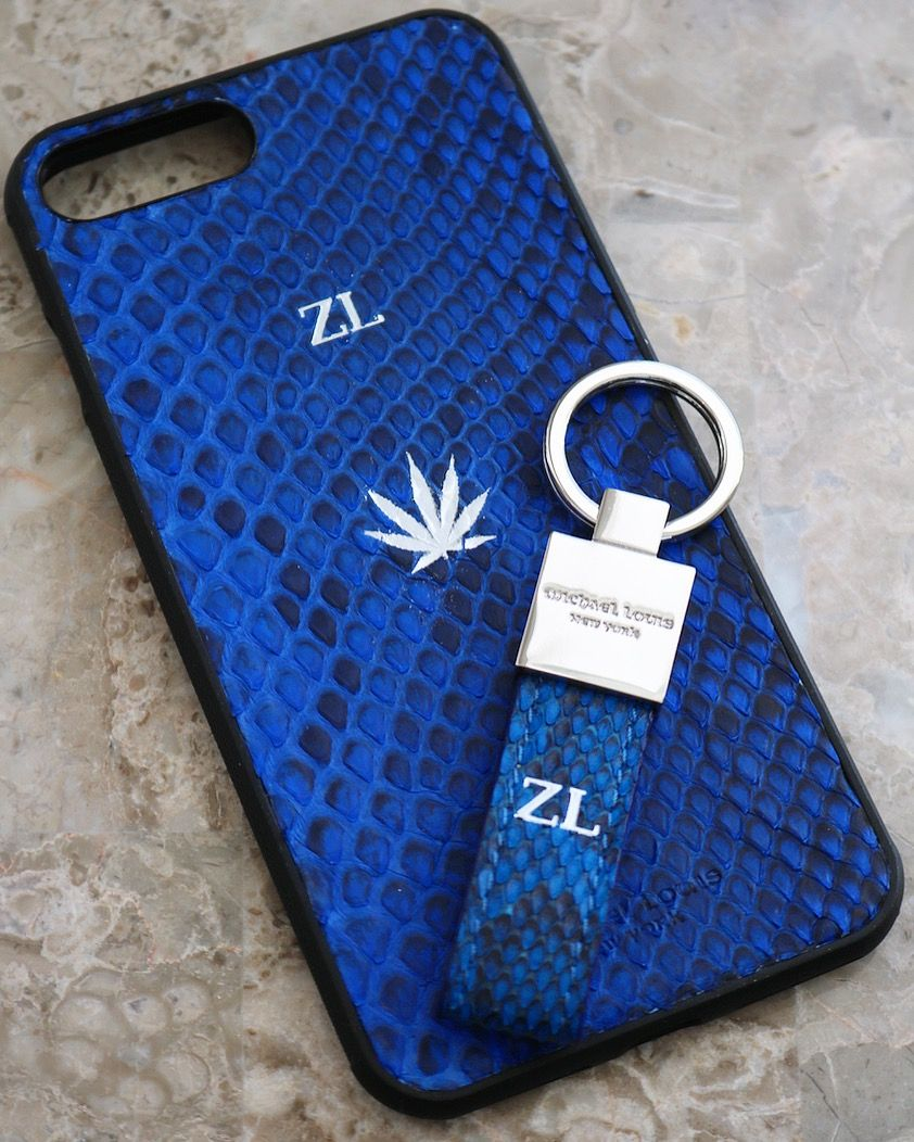 new products d2455 94e17 Blue Python Snakeskin iPhone 7 Plus / 8 Plus Case | - iPhone 7 / 8 ...