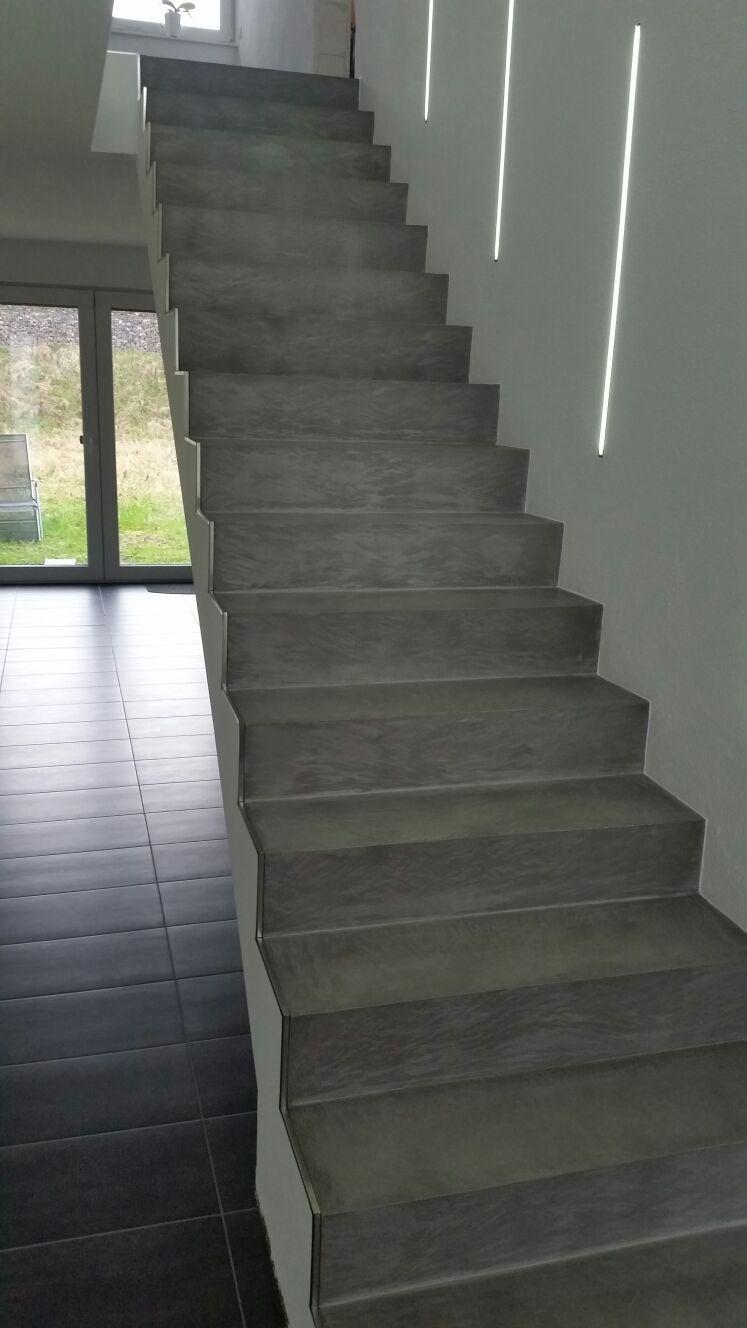 Treppe Fugenlos Beton Cire Licht Unikat Mit Bildern