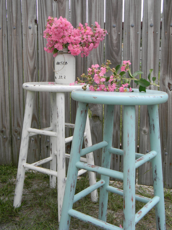 The Cottage Girls Vintage Distressed Hand Painted Wooden Bar