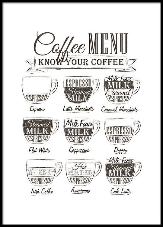 Leuke Poster Met Koffie Menu صوره In 2018 Pinterest Kitchen