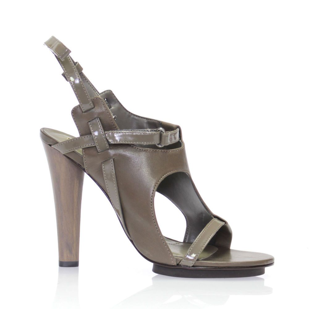 FDW Women $359 BCBG Max Azria Michaela Grey Leather High Heels ... Hawt - but seems would be uncomfy around the little toe area