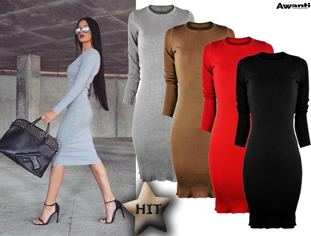 Awanti Olowkowa Dopasowana Sukienka Prazkowana 5825031554 Oficjalne Archiwum Allegro Sweater Dress Fashion Dresses