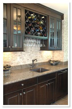 wet bar | Home Bar Cabinetry | Custom Wet Bar – Beck/Allen ...