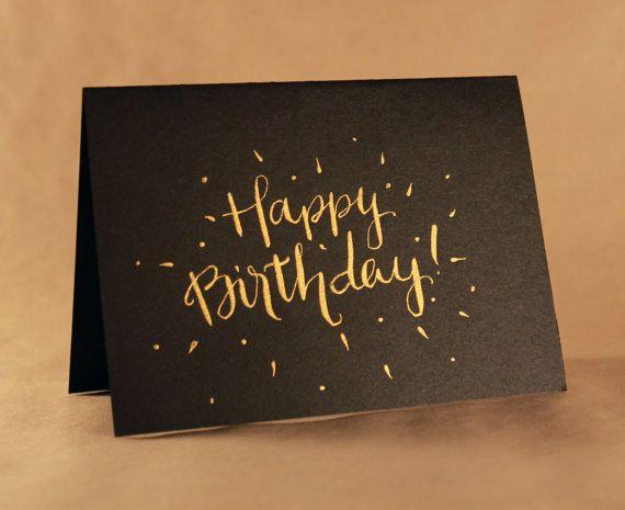 Happy Birthday Handwritten Card Type Pinterest