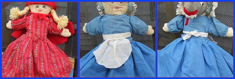 Little Red Riding Hood Grandma Wolf ~Topsy Turvy Rag Doll Pattern