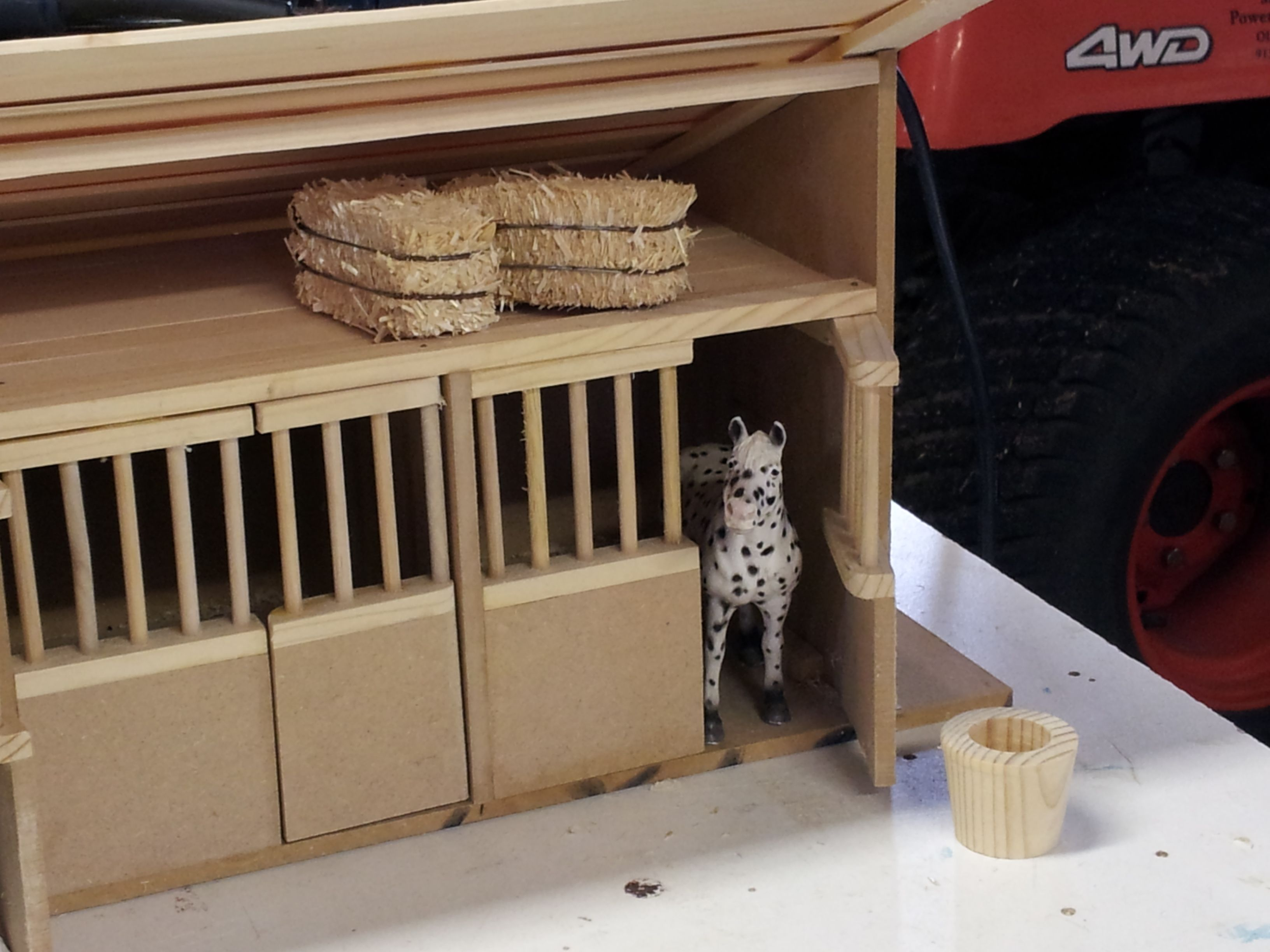 Schleich Toy Horse Stall I Made For My Girls Things I