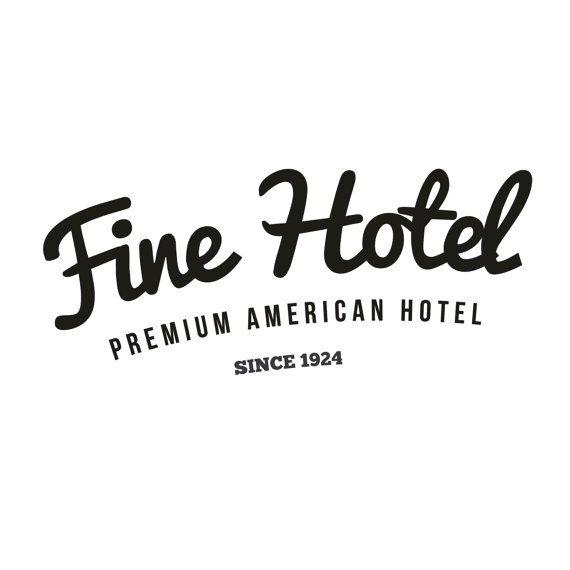Retro/Vintage Hotel Logo by GDesignzcanada on Etsy | Hostel