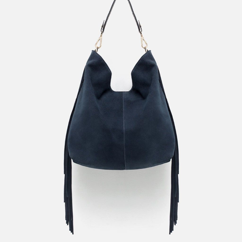 33ba2e0ec66 Image 1 of FRINGED SUEDE TOTE from Zara | Codeux | Suede tote bag ...