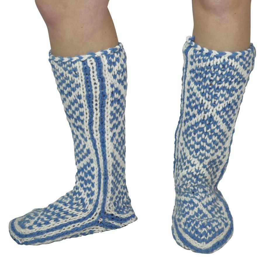 30% OFF! Diamond Pattern Hand Knit Mukluks   Knitting, Sewing ...
