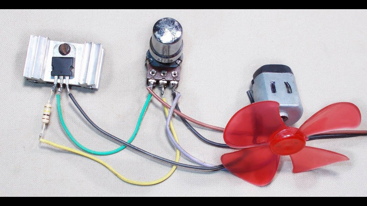 tutorial simple dc motor speed control circuit how to make an univers  [ 1280 x 720 Pixel ]