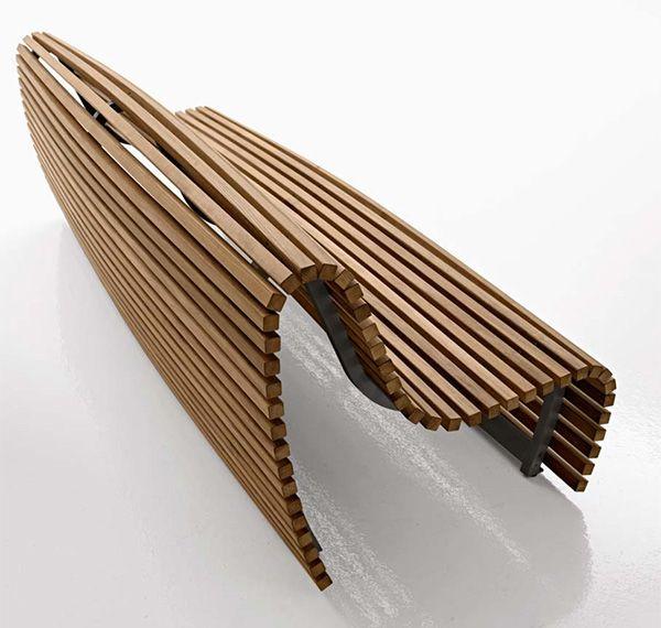 Outstanding Outdoor Bench Seating Modern Outdoor Wood Bench By Bb Inzonedesignstudio Interior Chair Design Inzonedesignstudiocom