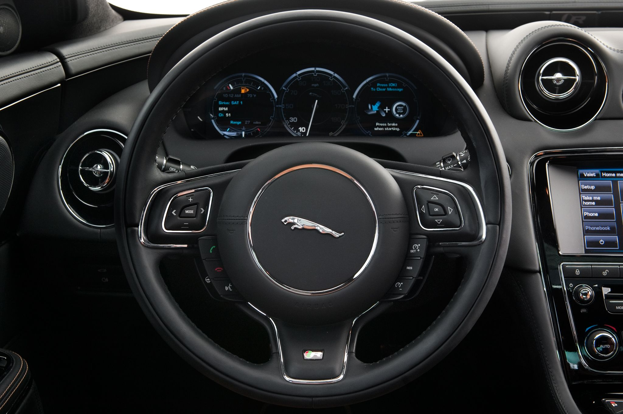 2014 jaguar xjr steering wheel black sport multifunction 3. Black Bedroom Furniture Sets. Home Design Ideas