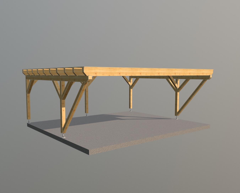 Holz carport 7m x 6m, carports aus polen, gartenhaus aus