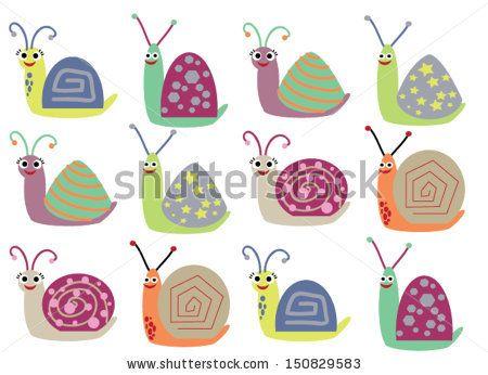 Huisjesslakken Stockillustraties & cartoons | Shutterstock