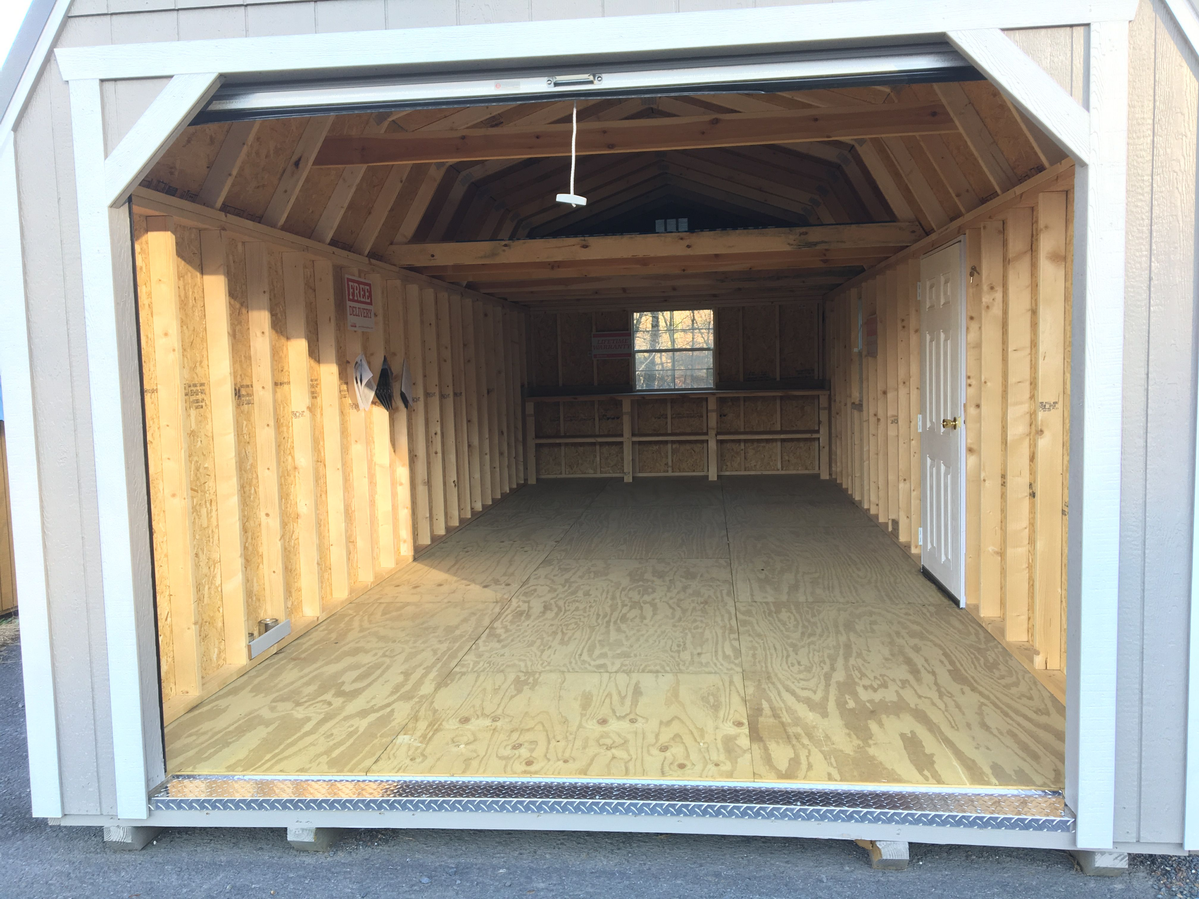 Best 28 Foot Long Lofted Barn Garage Siding Color Clay Roof 400 x 300
