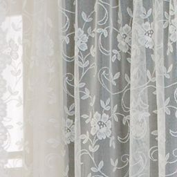 A close up view of the shari lace curtain panel from - Jcpenney bathroom window curtains ...