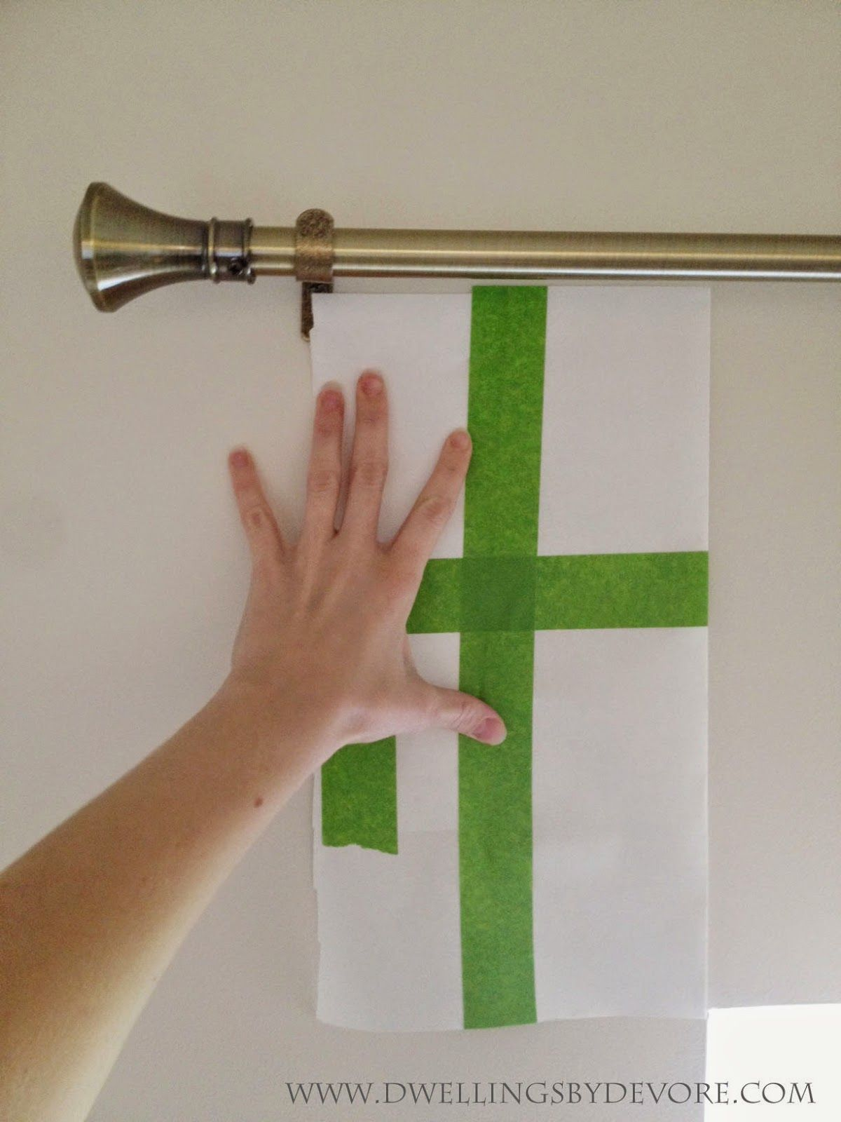 Make A Template To Hang Curtain Rods The Same Although I D Have Them From Ceiling Think My Window Isn T 100 Level Dwellings By Devore