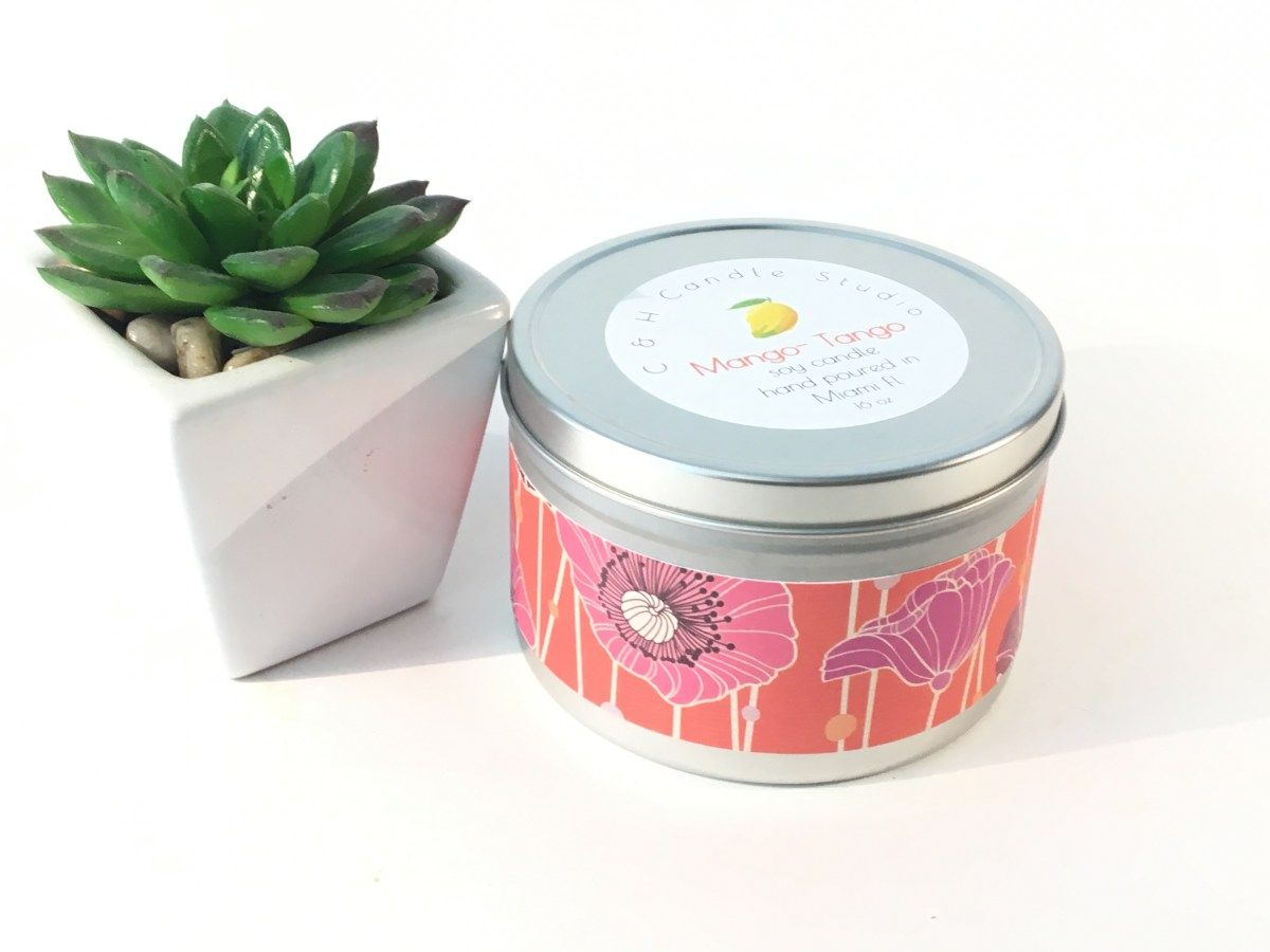 soy candle tin,hand poured candle, wedding favor candle, party favor ...
