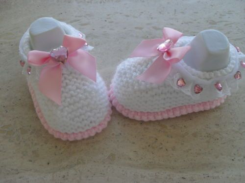 Baby-Girl-shoes-booties-3 | Sandalias | Pinterest | Zapatos tejidos ...