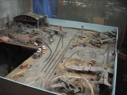 Airfield Diorama With Slot Car Track Cool And Fun At The Same