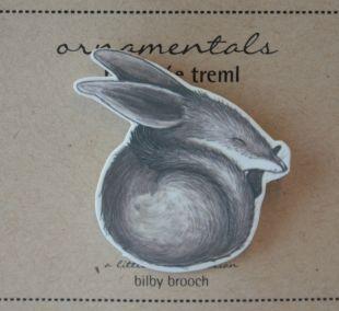 Bilby Brooch by Renee Treml