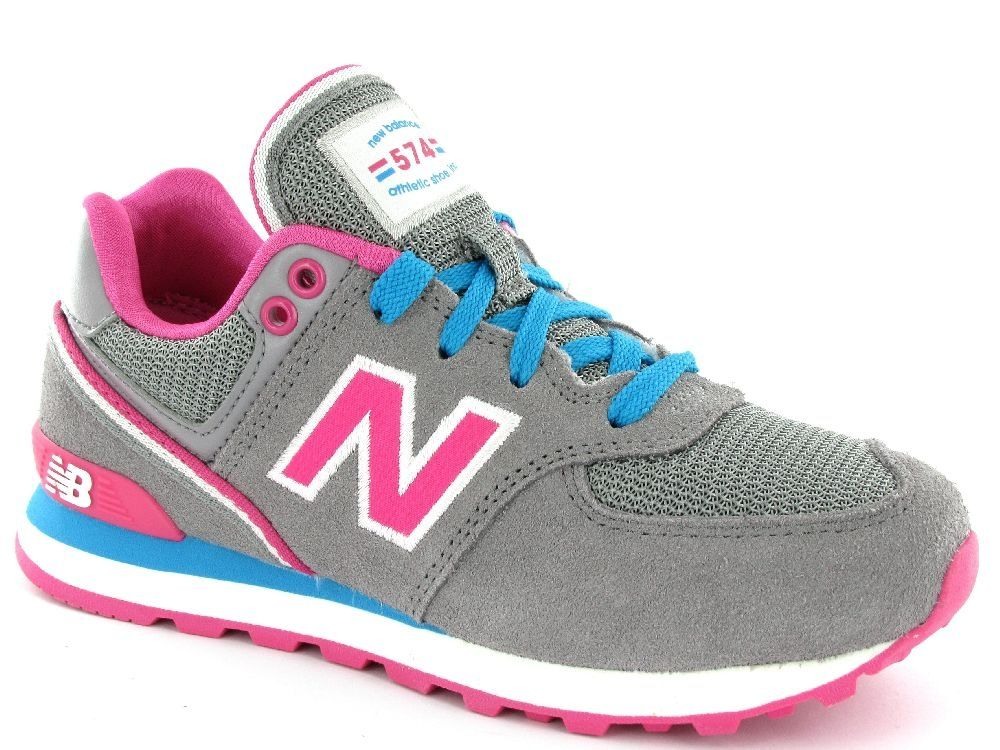 new balance sneakers blauw roze