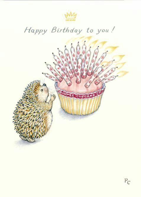 Ежик. С днем рождения! | Пожелания на день рождения, С ...