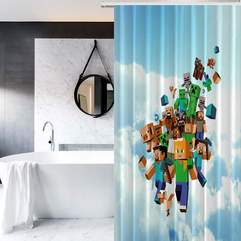 Minecraft Come Down From Sky Custom Design Print On Waterproof